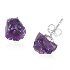 Uruguay Amethyst Earrings (with Push Back) in Sterling Silver 6.250  Ct.