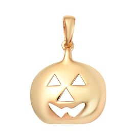 14K Gold Overlay Sterling Silver Devil Pumpkin Pendant, Silver wt 3.10 Gms
