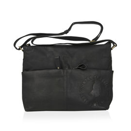 MCS Country Classics 100% Genuine Leather Handbag Black