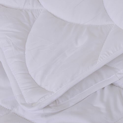 Luxury Edition - 4 Season Luxury Anti Bacterial Quilted Duvet with Faux Down Hollowfibre Filling in Double Size (200x200 cm) Oeko-Tex tested