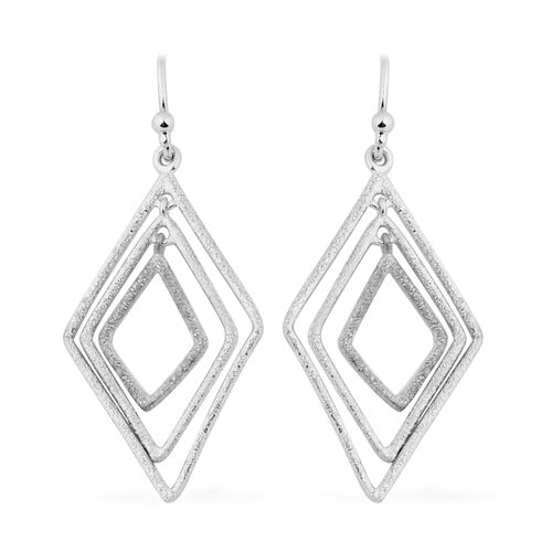 NY Designer Close Out Deal - Sterling Silver Diamond Cut Hook Earrings