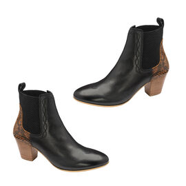 Ravel Moa Snake Pattern Leather Heeled Ankle Boots