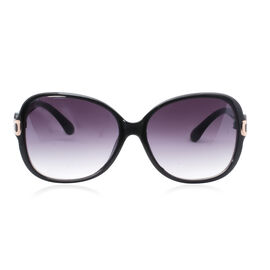 Designer Inspired Sunglasses for Women - Black Oval