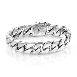 Royal Bali Collection Oxidised Gourmette Bracelet in Sterling Silver 109 Grams 8 Inch