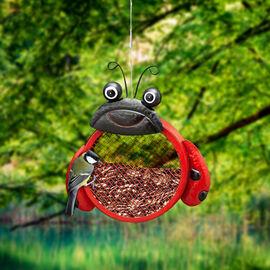 Metal Mesh Bird Feeder - Beetle (Size 22.5x7x49 Cm)