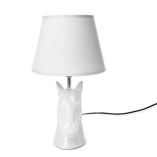Home Decor - White Colour Horse Head Design Table Lamp (Size 38x20.5 Cm)