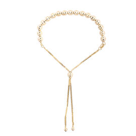 Royal Bali Collection - 9K Yellow Gold Beads Bolo Adjustable Bracelet (Size 6.5 - 9.5) Gold Weight 3
