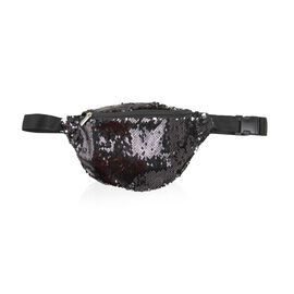 Close Out Deal - Sequin Bum Bag - Black
