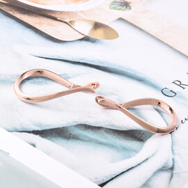 LucyQ Melting Drops Hoop Earrings in Rose Gold Plated Sterling Silver