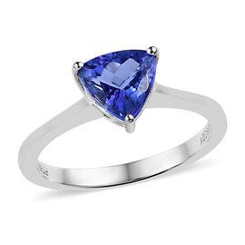 Super Auction-RHAPSODY 950 Platinum AAAA Tanzanite (Trl) Solitaire Ring 1.250 Ct.