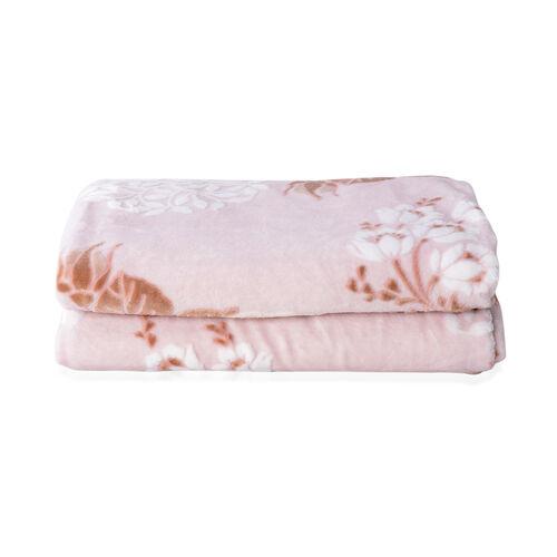High Quality Hotel Luxury Plush Microfiber Rose Embossed 3D Effect-Finish Blanket (Size 200x150 Cm)