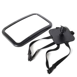 Black Colour Back Seat Car Baby Mirror (Size 30x19 Cm)