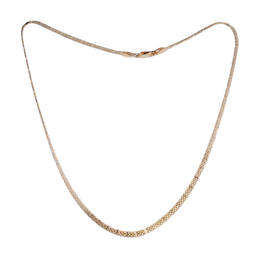 Vicenza Collection - Yellow Gold Overlay Sterling Silver Bismark Necklace (Size 18). Silver wt. 5.40 Gms
