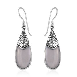 Royal Bali Collection Mother of Pearl Drop Hook Earrings in Sterling Silver