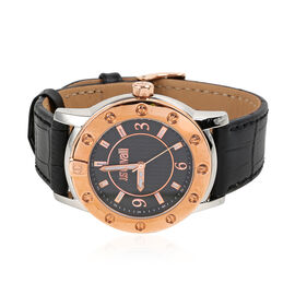 JUST CAVALLI: Classic Water Resistant Watch with 100% Genuine Leather Strap