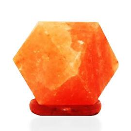 Natural Himalayan Rock Salt USB Powered Colour Changing Lamp (Size 12x7.5x7.5 Cm) - Diamond Cut