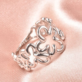LucyQ Splash Collection - Rhodium Overlay Sterling Silver Ring