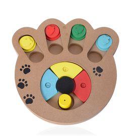 Multi Colour Wooden Pet IQ Training Toy (Size 24x23 Cm)