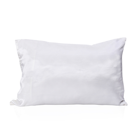 Serenity Night 100% Mulberry Silk Hyaluronic Acid and Argan Oil Infused White Pillowcase Size 50x75cm