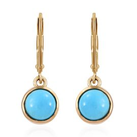 SLEEPING BEAUTY TURQUOISE (2.50 Ct) 14K Gold Overlay Sterling Silver Earring  2.500  Ct.