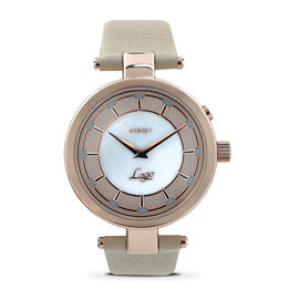 KYBOE Lago Bianco LED Watch - 100M Water Resistance Rose Gold and Nude