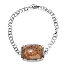 Venus Jasper (Cush) Bracelet (Size 7.5) in Ion Plated Stainless Steel 26.250 Ct