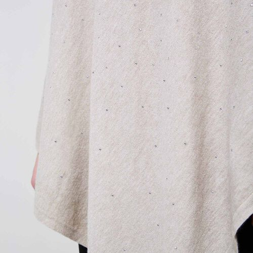 Kris Ana Scatter Poncho One Size (8-20) - Natural