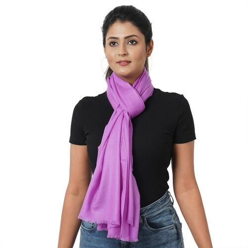100% Cashmere Wool Lavender Colour Ultra Soft Scarf (Size 190x68Cm)