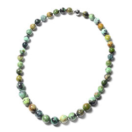 Tucson Gem and Mineral Find - Variscite Graduated Necklace (9mm to 11mm) Sterling Silver Necklace wi