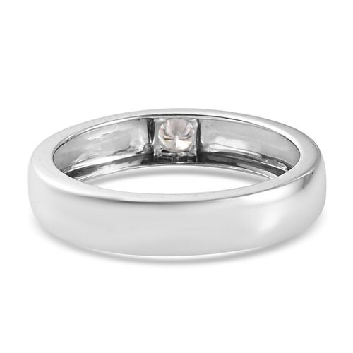 9K White Gold SGL Certified Diamond (I1/G-H) Flush Setting Band Ring