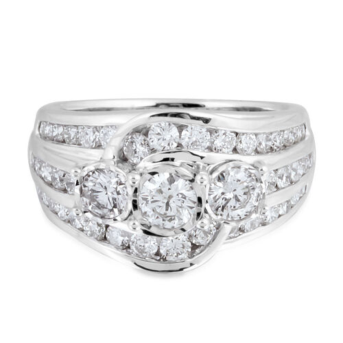 Diamond 14K W Gold Ring  2.000  Ct.