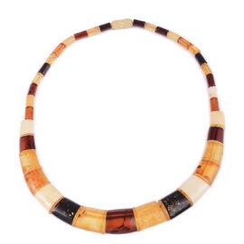 16 Inch Multi Colour Amber Collar Necklace 70 Ct