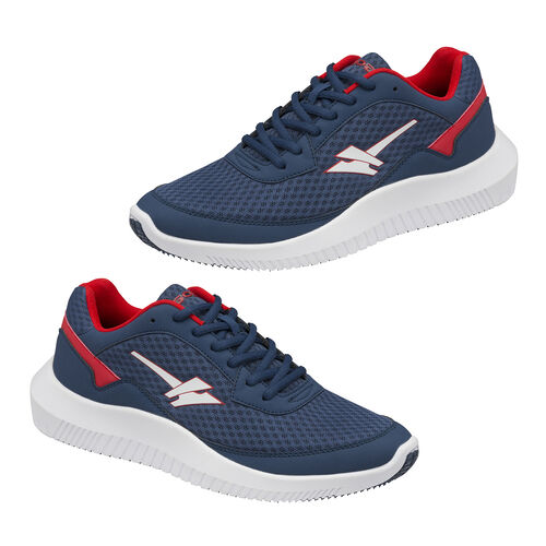 Gola Wexford Lace Up Trainer (Size 9) - Navy and Red