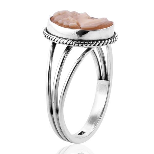Royal Bali Collection Cameo (Ovl) Ring in Sterling Silver 2.660 Ct.