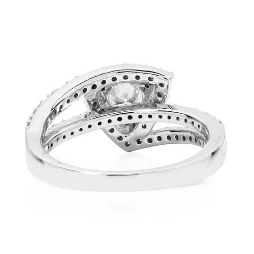 Set of 2- New York Close Out 14K White Gold Diamond (Rnd) ( I1-I2/G-H) Ring 1.200 Ct, Gold wt 6.60 Gms.