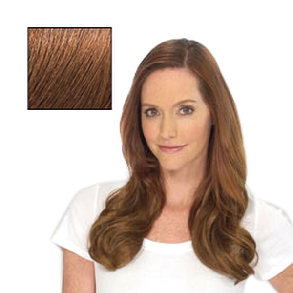 SECRET EXTENSIONS-Virtually Invisible Headband in Light Red Brown Color