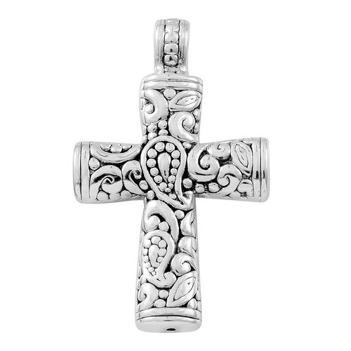 Sterling Silver Filigree and Paisley Cross Pendant,