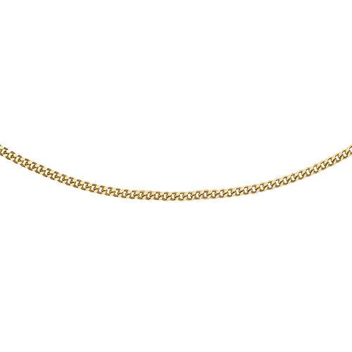 14K Yellow Gold Diamond Cut Curb Chain (Size 18)