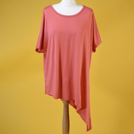 NOVA of London Coral Scoop Neck Side Tie Top ( size up to 20)