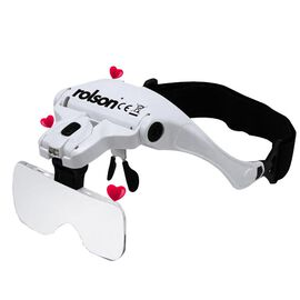 Back By Popular Demand- Rolson Magnifying Glasses with 2 LED in White and Black Colour (3 AAA Batter