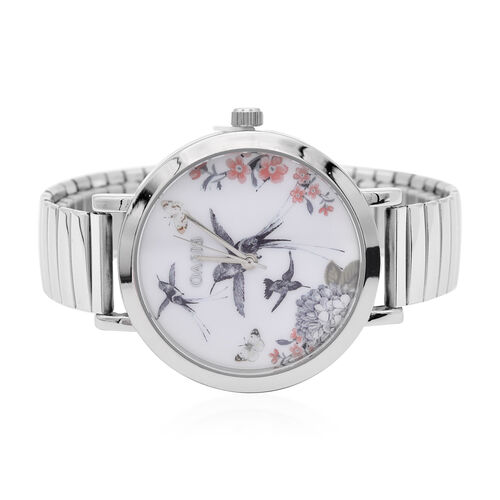 OASIS Womens Analogue Classic Quartz Watch with Silver Tone Exapandable Strap