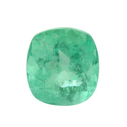 Colombian Emerald Cushion 11x10 Faceted 3A 5.600 Cts
