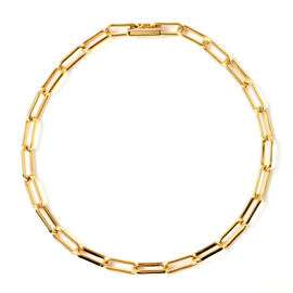 Designer Inspired- Link Bracelet (Size 8) in Yellow Gold Overlay Sterling Silver