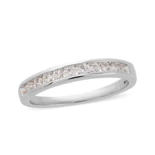 Iliana 0.50 Ct Diamond Eternity Band Ring in 18K White Gold 3.98 Grams