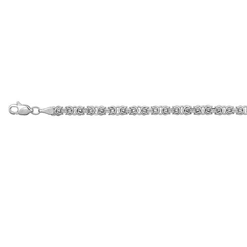 Italian 9K White Gold Byzantine Necklace (Size 30), Gold wt 9.42 Gms.
