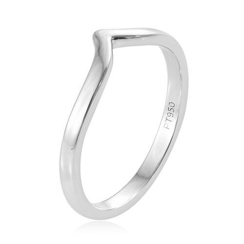 RHAPSODY 950 Platinum Wishbone Ring, Platinum wt. 3.06 Gms.