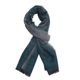 Close Out Deal- Blue and Grey Colour Scarf (Size 185x70 Cm)