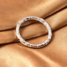 RACHEL GALLEY Rhodium Overlay Sterling Silver Lattice Band Ring