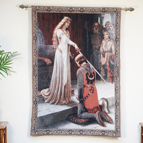 Signare Tapestry -  Edmund Blair Leighton Accolade Wall Hanging (Size 95x140cm)