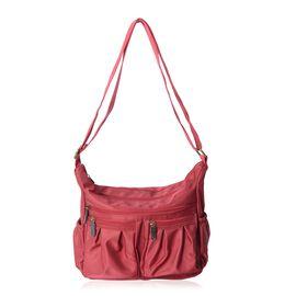 Annabelle Water Resistant Burgundy Colour Crossbody Bag with Adjustable Shoulder Strap